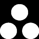 3 kugler hvide til bundkant